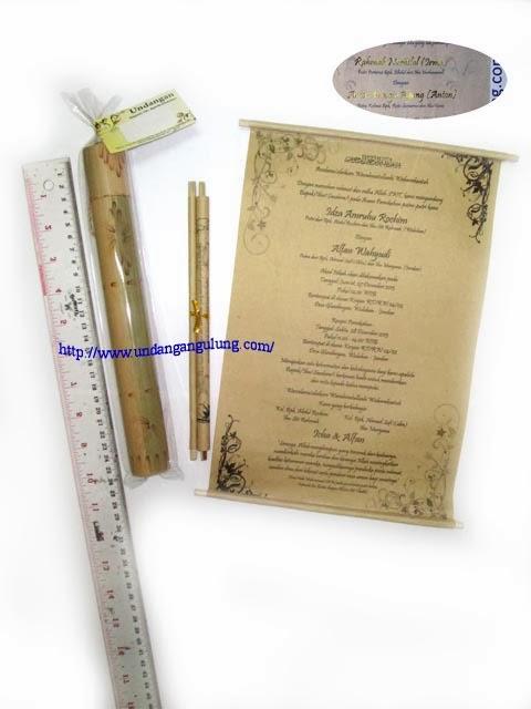 undangan gulung tabung bambu