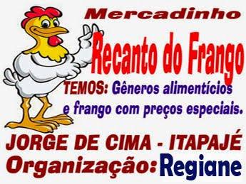 RECANTO DO FRANGO, SEU MERCADINHO NA LOCALIDADE JORGE EM ITAPAJÉ, VENHA CONHECER!