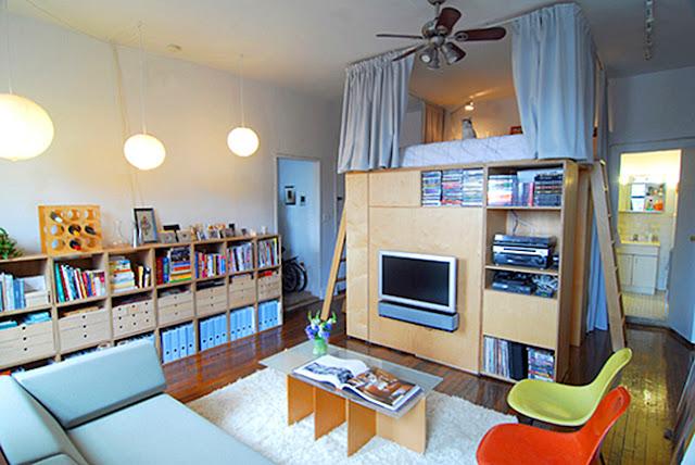 Mit IKEA Regalsystemen kann locker ein Hochbett plus Kleiderschrank selbst gebaut werden!