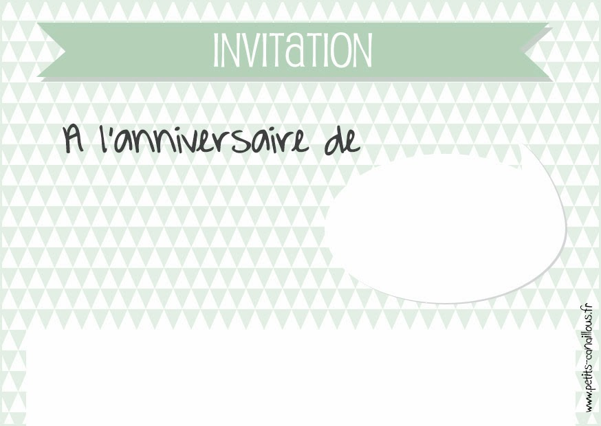 Carte d anniversaire et invitation imprimer - Invitation a imprimer ...
