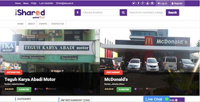 Tampilan Website Informasi Hiburan, Dunia Pendidikan dan Kecantikan Terbaik di Jakarta