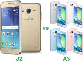 Samsung Galaxy J2 vs A3 Harga dan Spesifikasi
