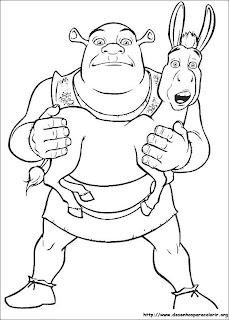 Desenhos do Shrek para imprimir e colorir