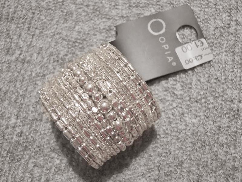Glitter Armcuff Silver Sparkle