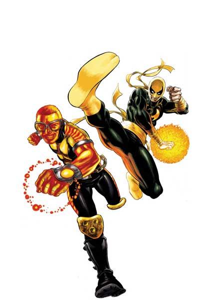Powerman y Puño de Hierro con trajes nuevos