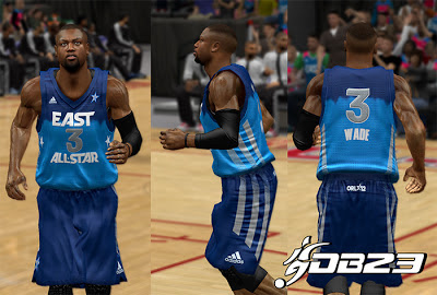NBA 2K13 East All-Stars 2012 Jersey Mod