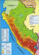 Mapa físico del Perú mapa fãsico del perãº