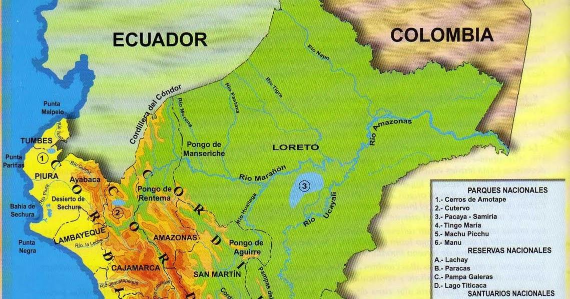 El mapa fsico  Ciencia Geogrfica