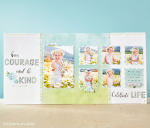 April Stamp of the Month:  Scrapbook Page