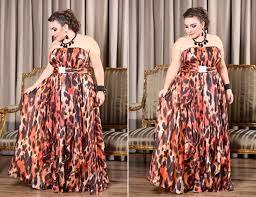 vestido longo de oncinha para gordas - fotos e modelos