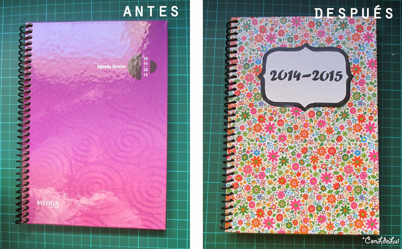 Con l de lui back to school 2014 iii decora tu agenda - Como decorar una agenda ...