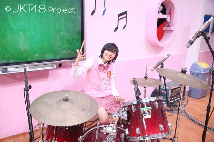 Ghaida JKT48 main drum