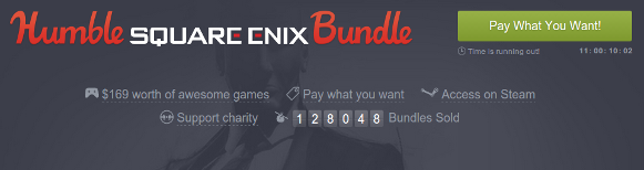 Captura de pantalla de la cabecera de Humble bundle