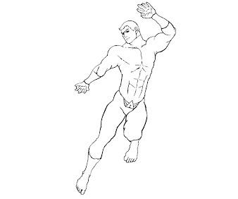 #3 Aquaman Coloring Page