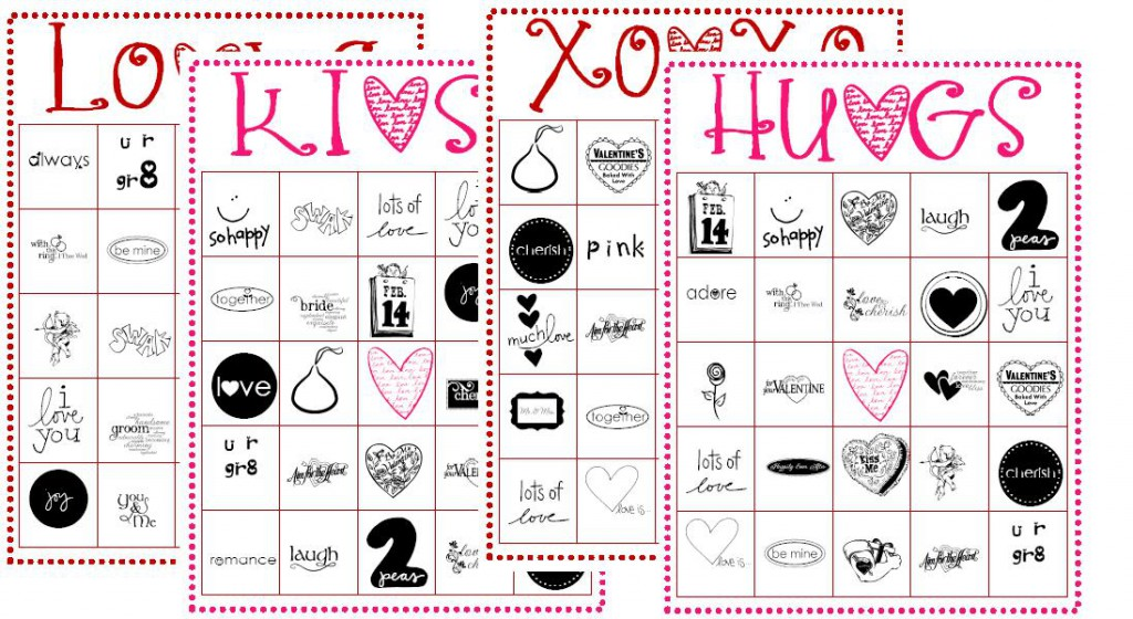Printable VDay Memory Game Crafthubs – Free Printable Valentines Day Bingo Cards