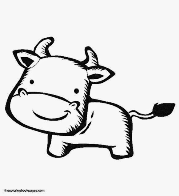free cute cow coloring pages - photo#13