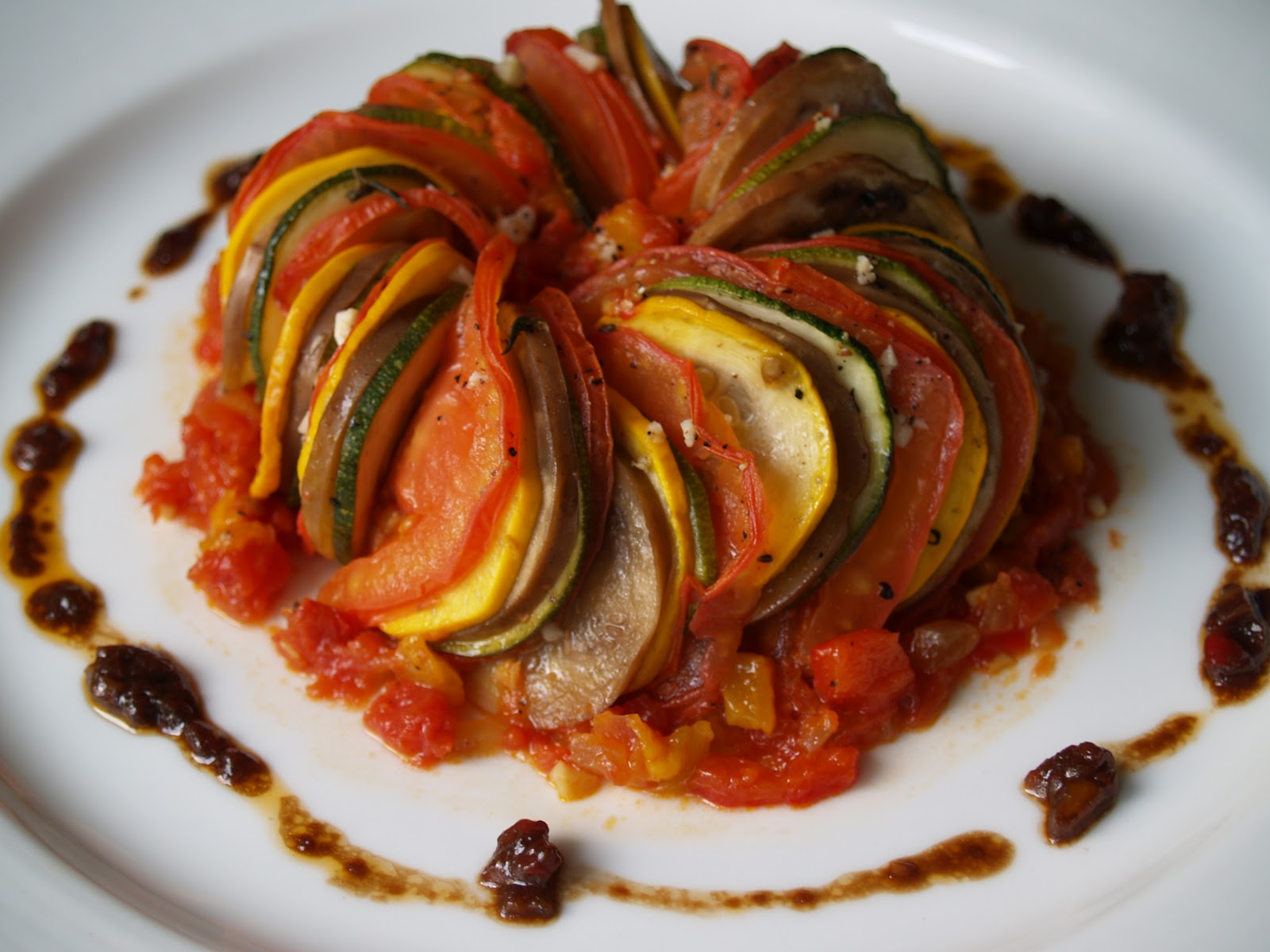 Persimmon and peach thomas keller 39 s ratatouille for Comida francesa nombres