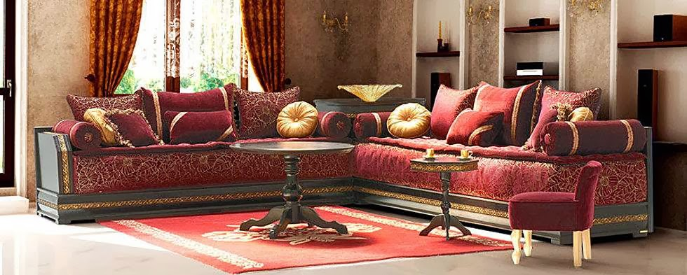canapé marocain d'angle