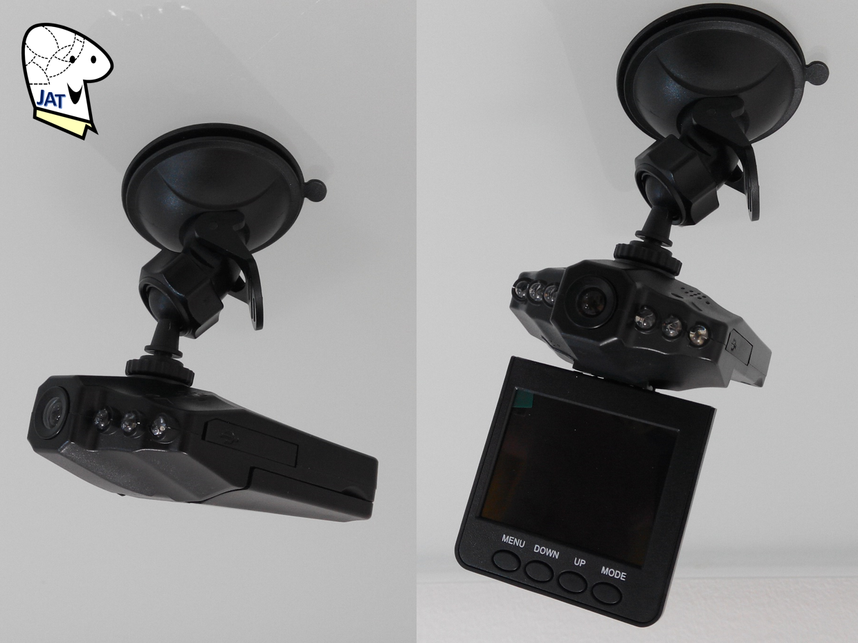 HD Car DVR IR Night Vision In-Car AV recorder - mounting.