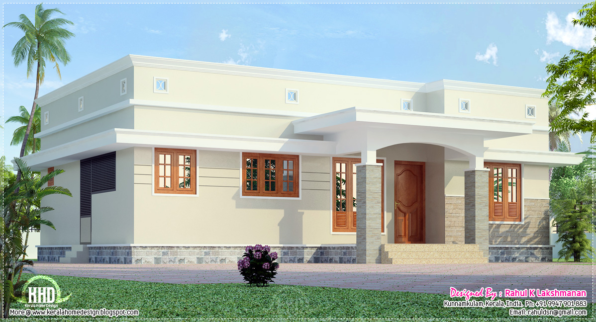Small budget home plans design kerala home design and for Low budget home plans