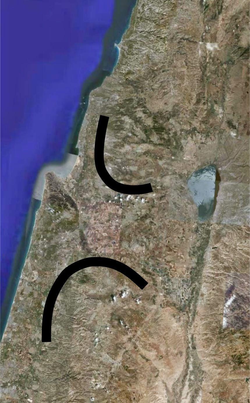 2 חצאי הסהר - תפרוסת ישובי המיעוטים סביב חיפה