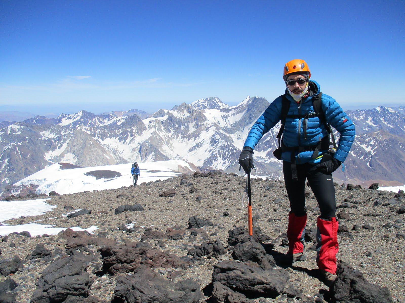 En el Cerro Marmolejo (6109m)