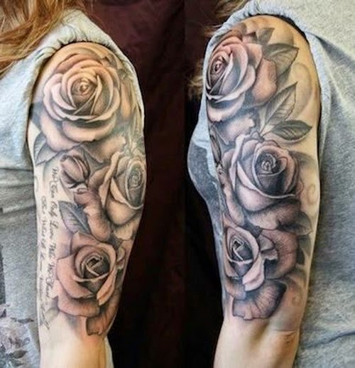 rose tattoos for men tattoos art. Black Bedroom Furniture Sets. Home Design Ideas