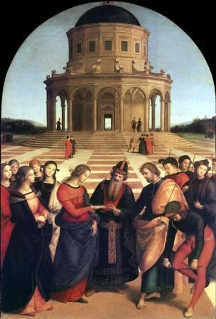 Foto: Los desposorios de la Virgen Rafael Sanzio