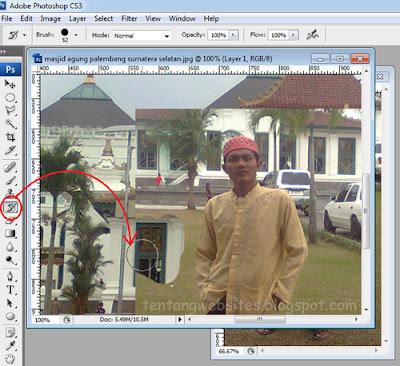 cara memasukkan object kedalam photo