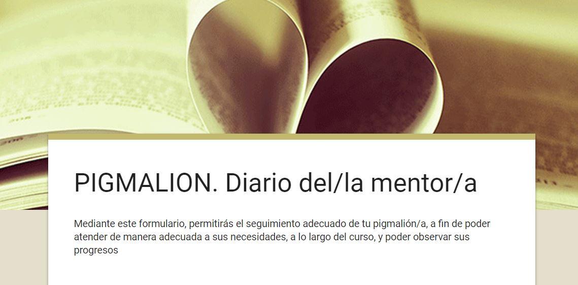 PIGMALIÓN DIARI MENTOR/A