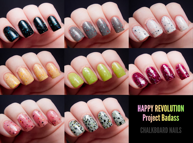 Happy Revolution Project Badass via Chalkboard Nails