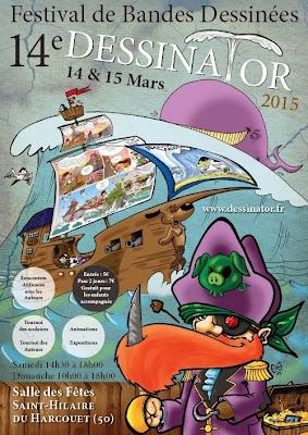 Participation à la création de l'affiche du festival de BD Dessinator ©Guillaume Néel