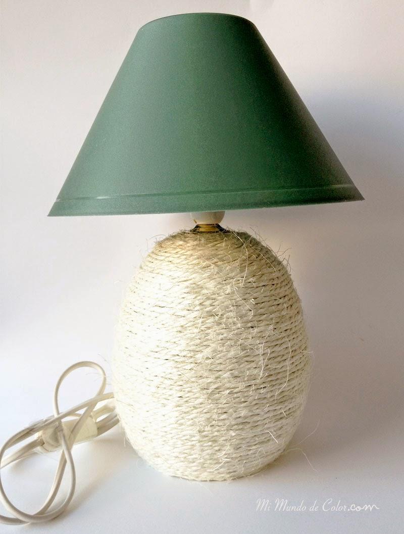 cambiando el look de una vieja lampara