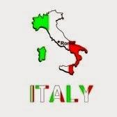 карта Италии в виде флага