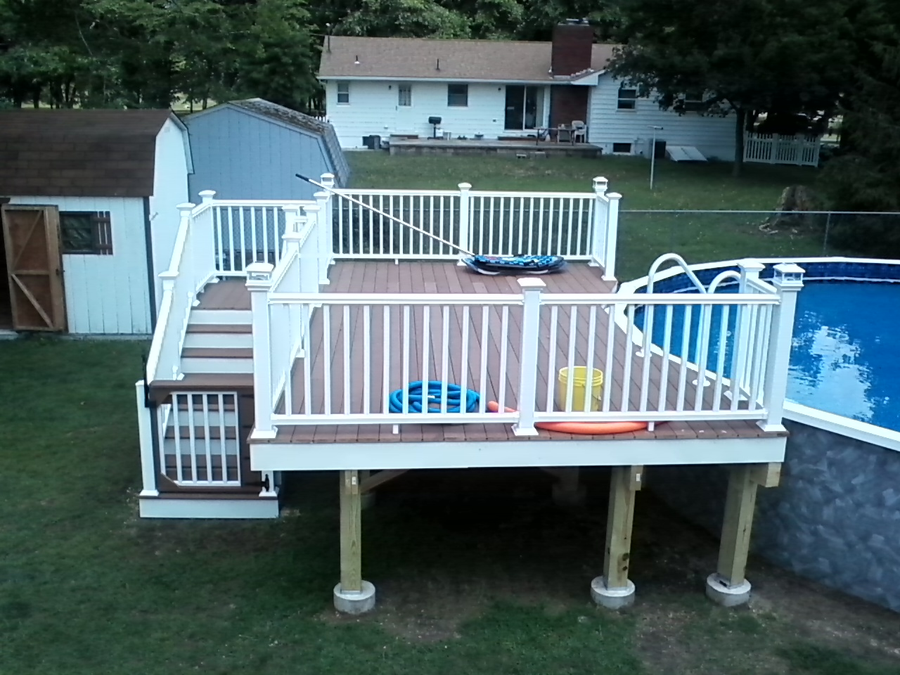 Home remodeling and improvements tips and how tos exterior gibbstown nj severe weather railing system pool railing for decking baanklon Images