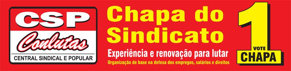 CHAPA 1 - Eleições do Sindicato dos Metalúrgicos de São José dos Campos