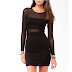 Original Branded UK ready stock: Forever 21 Mesh Panel Bodycon Dress