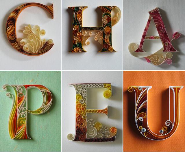 Tipografia com papel