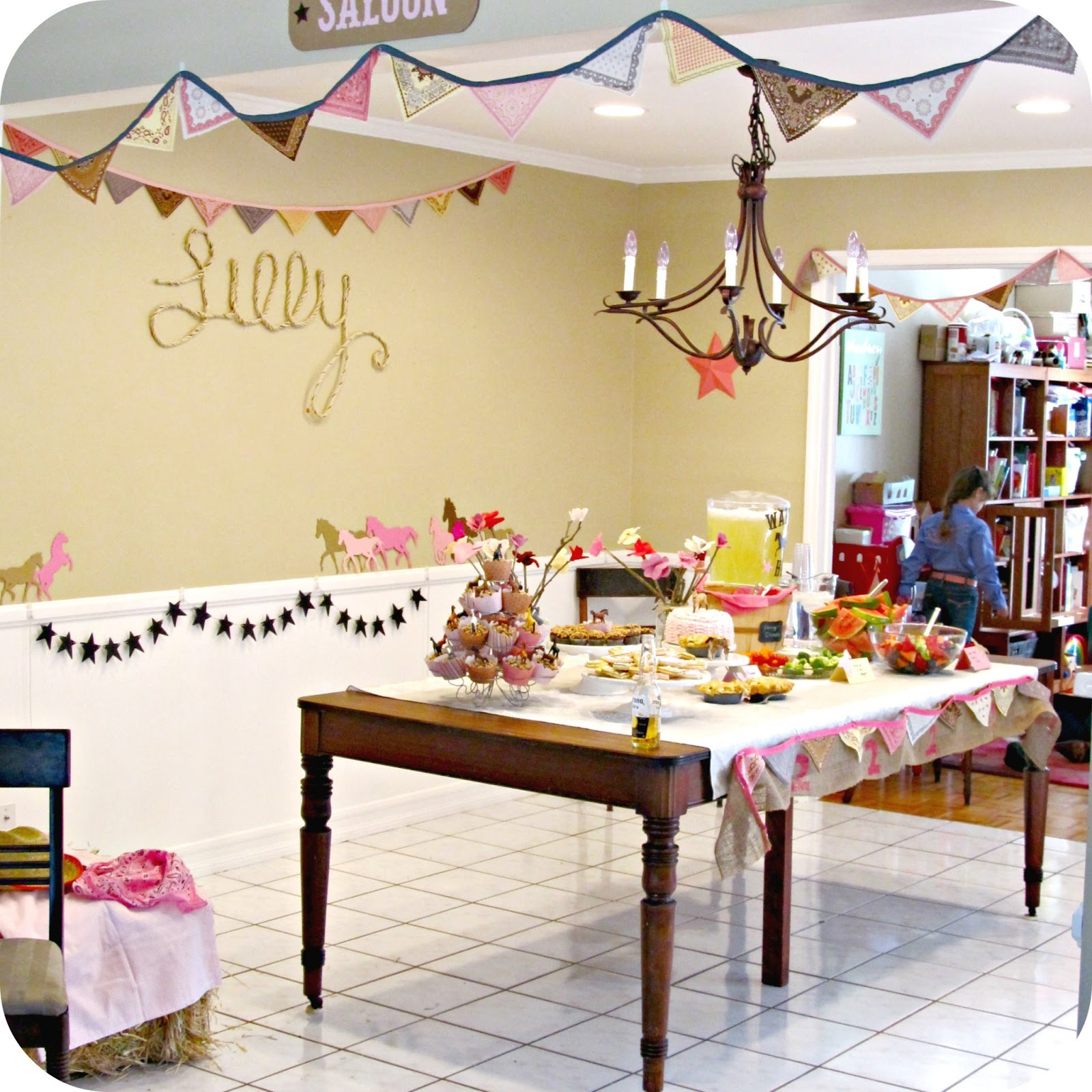 Cowgirl Birthday Decorations Homemade By Jill Lillys Cowgirl Party