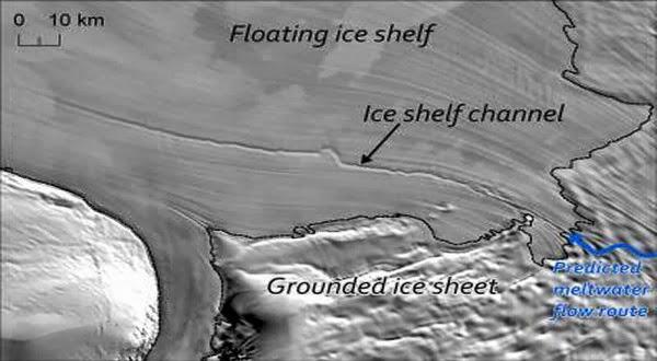 Inilah Saluran Es Raksasa Yang di Bawah Antartika