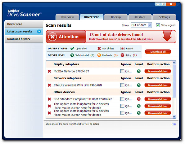 Uniblue Driver Scanner 2013 Serial Key