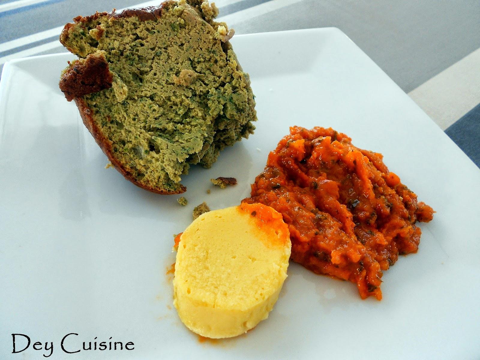 Gateau de foie de volaille sauce tomate