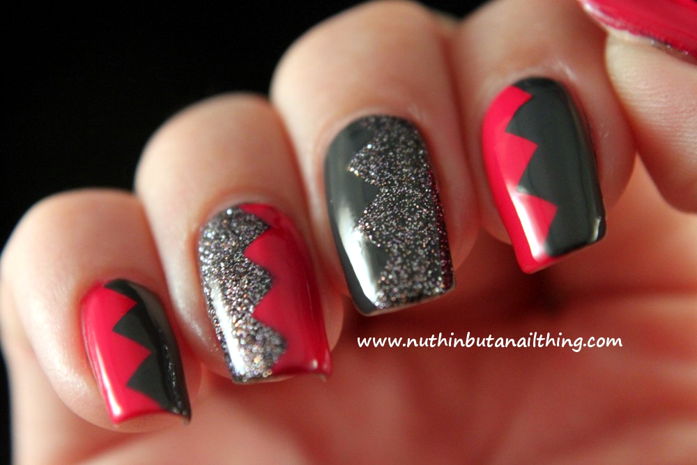 Nuthin But A Nail Thing Salons Direct Zig Zag Nail Art With China