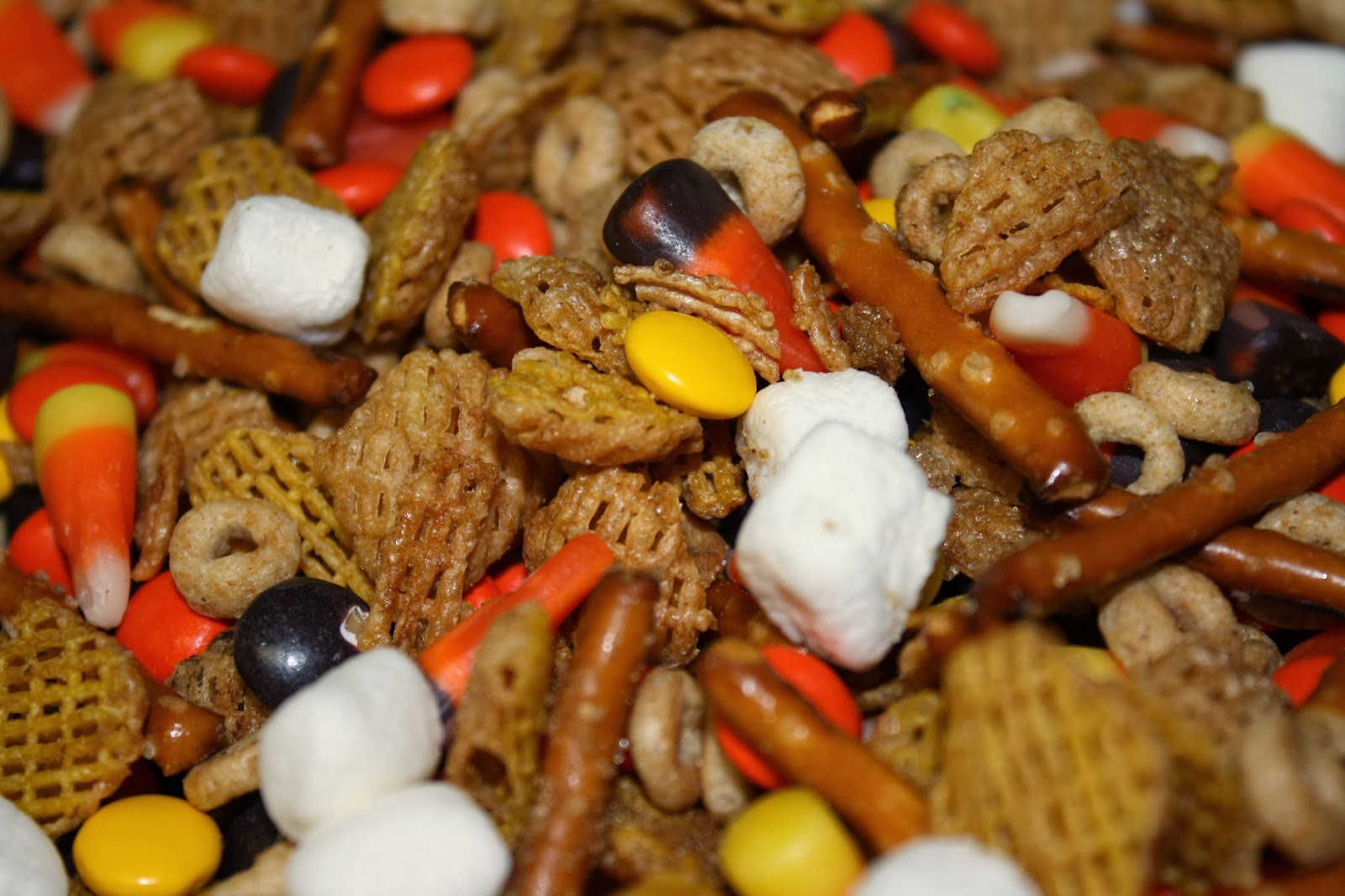 Fall (Holiday) Snack Mix from Stick a Fork In It