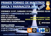 Primer Torneo de Maestros Ajedrez Kids Arica 2015