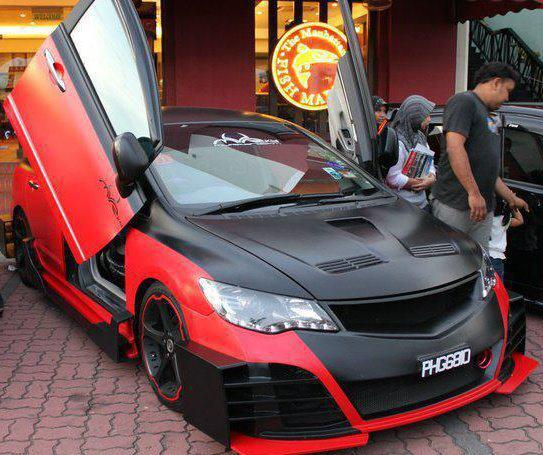 Modified cars Point - Help you to Modified your car: Red and black sport honda civic