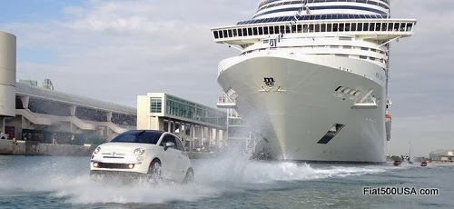 Fiat 500 Watercraft and MSC Divina