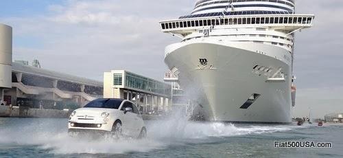 Fiat 500 Watercraft and MSC Divina