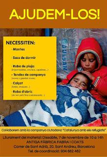 Campanya solidària d'ajuda als refugiats als Balcans