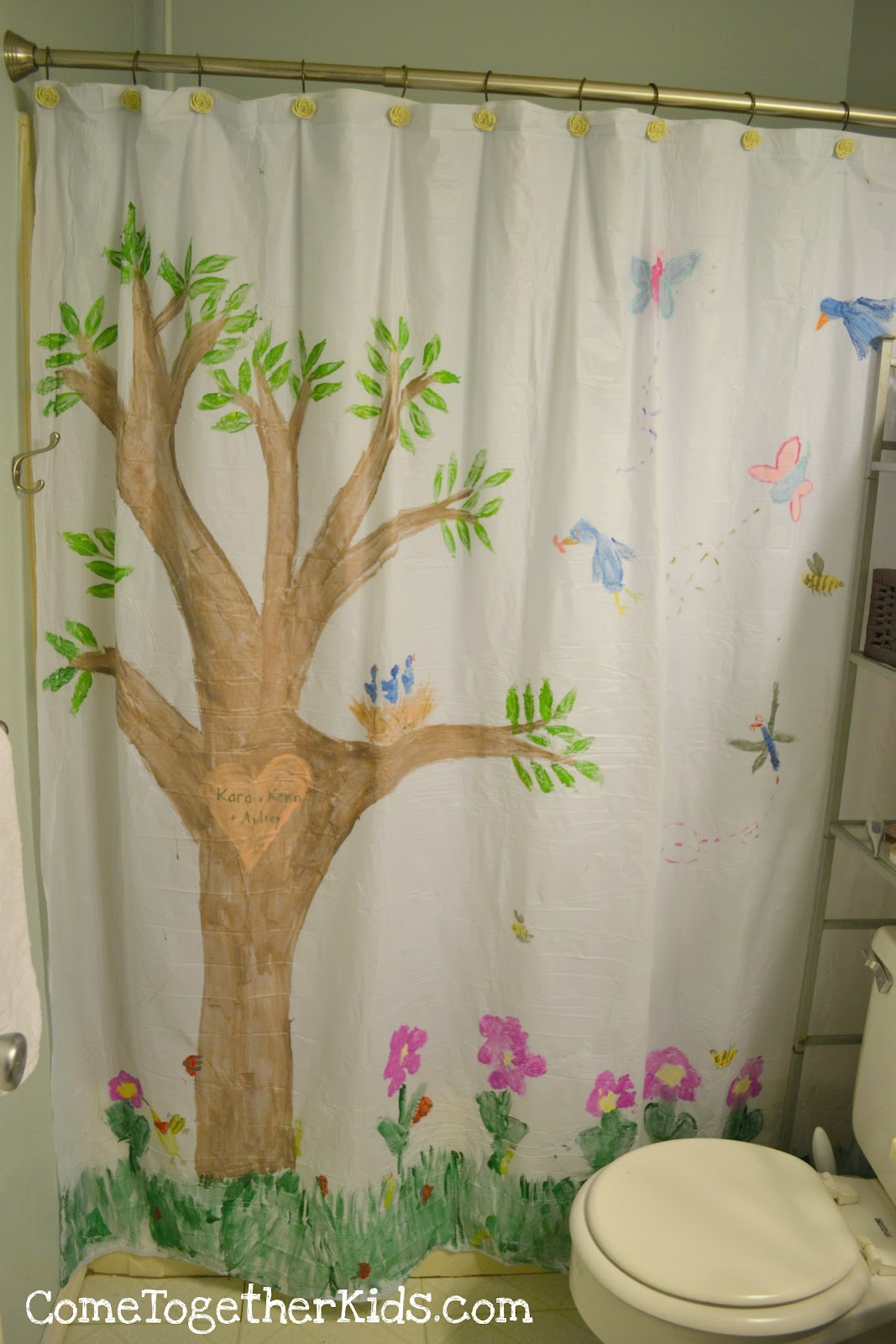 Come Together Kids Paint A Shower Curtain Mural